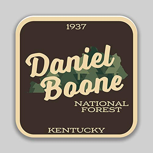 JMM Industries Daniel Boone National Forest Kentucky Vinyl Decal Sticker Car Window Bumper 2-Pack 4-Inches 4-Inches Premium Quality UV-Protective Laminate PDS1385