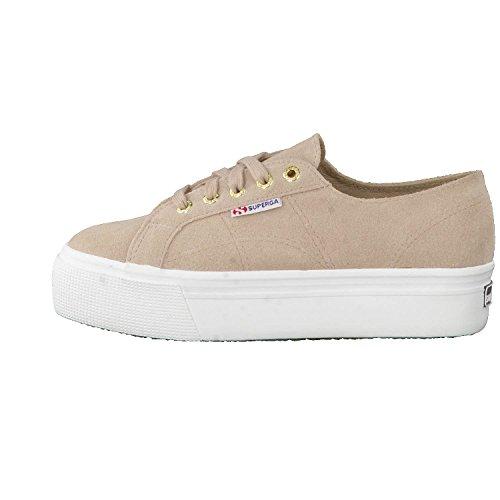 SUEW weiß Superga beige Sneaker 2790 Damen C55RSpq