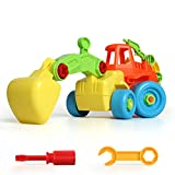 BigSmyo Baby Push and Go Friction Powered Car Toys for Children Boys Girls Kids Gift Excavator Truck Construction (Self-assembly to enrich the DIY hands-on ability of children) Incidental tools