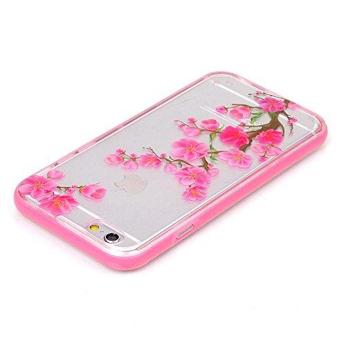 Voguecase® für Apple iPhone 6 Plus/6s Plus (5,5 Zoll), LED Anrufer Anruf Blitz Schutzhülle / Case / Cover / Hülle / 2 in 1 TPU Gel Skin (Crabapple Baum) + Gratis Universal Eingabestift