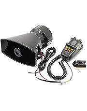 KKmoon Car Megaphone 5 Tone Alarm Horn 12V 110dB Loud Speaker Fire Alarm Ambulance Blaring Police Siren