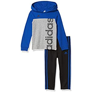 Best Epic Trends 41thb3bGnKL._SS300_ adidas boys Long Sleeve Tee & Jogger Clothing Set