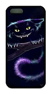 iCustomonline Case for iPhone 5S (TPU), Cheshire Cat Stylish Durable Case for iPhone 5S (TPU)