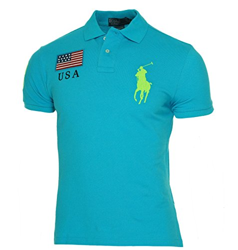 Polo Ralph Lauren Custom-Fit Neon Country Mesh Polo