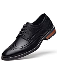Men's Modern Dress Shoes Formal Wingtip Lace up Oxford Shoes