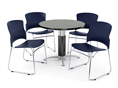 OFM PKG-BRK-027-0008 Breakroom Package, Gray Nebula Table/Navy Chair by OFM