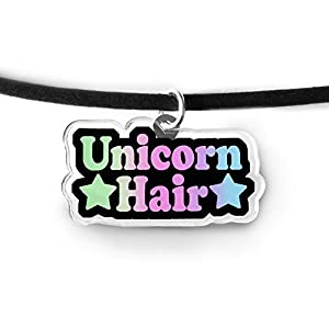 Unicorn Hair Word Charm Choker – Fairy Kei, Magical Unicorn, Pastel Rainbow, Rainbow Unicorn, Pastel Grunge Choker