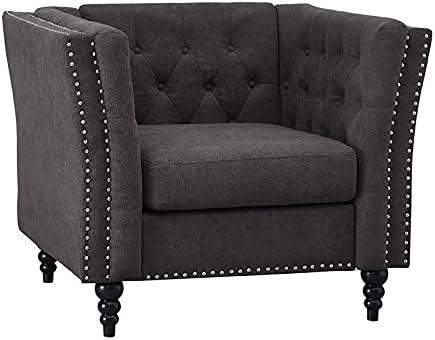 Kingway Furniture Palem Microfiber Living Room Chair in Brown