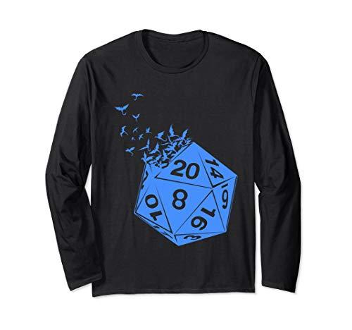 Tabletop Gaming Gift Long Sleeve Shirt Dragons D20 Dice Set