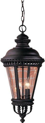 Feiss OL1911BK Castle Outdoor Lighting Pendant Lantern, Black, 4-Light (13