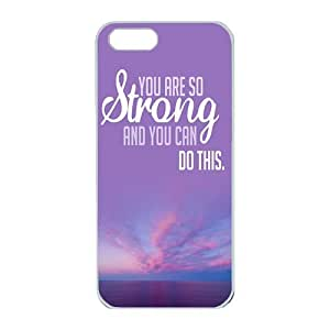 iPhone 5/5S Case,Fashion Durable White Side Diy design for Apple iPhone 5/5S(4.0 inch),PC material iPhone 5/5S Cover ,Safeguard Phone from Damage ,Designed Specially Pattern from our Life with Stay Strong inpirational quotes Designed on Purple Sky. by runtopwellby Maris's Diary