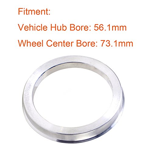 ZHTEAP 4pc Wheel Hub Centric Rings 78.1 to 108 OD=108mm ID=78.1mm - Aluminium Alloy Wheel Hubrings for Most Chevy GMC by ZHTEAP (Image #2)