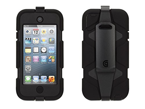 Griffin Black/Black Heavy Duty Survivor Case with Belt Clip for iPod Touch (5th/ 6th gen.) - Extreme-Duty case