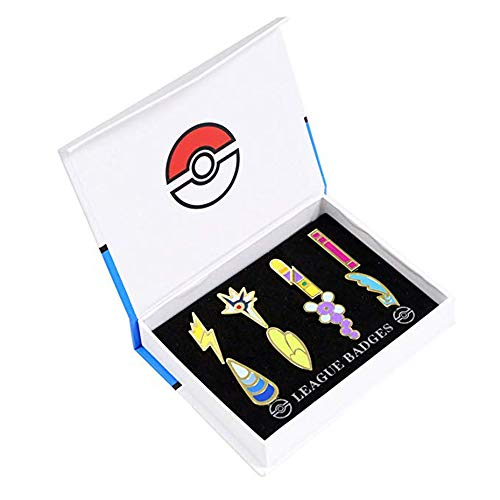 Pocket Monster Generation 5 Unova Region Gym Badge Collection Box Set of 8PCS, Gift for Boy and Girls