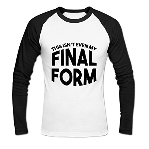 - Men's Cotton This Isnt Even My Final Form Baseball Tee XXL White