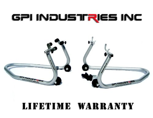 GP Pro Series - Universal Front and Rear Motorcycle Sportbike Paddock Race Stands Lifts For Kawasaki Suzuki Honda Yamaha BMW Ducati Triumph Sport and Sport Touring Bikes by GPI Industries (Image #9)