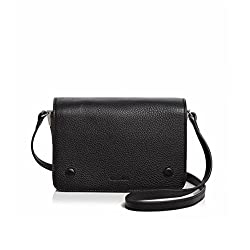 Steven Alan Women S Cameron Small Leather Crossbody Handbag Shoulder Bag Black