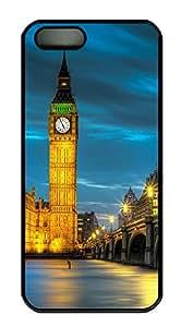 iPhone 5 5S Case Cool London Big Ben PC Custom iPhone 5 5S Case Cover Black