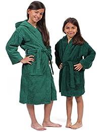 100% Turkish Cotton Terry Hooded Eco-Friendly Kids Bathrobe-Girls