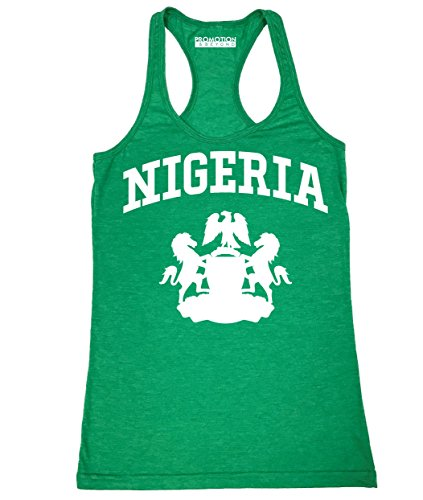 Promotion & Beyond Choose Your Country Flag Nigeria Women's Tank Top, 2XL, H. ()