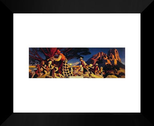 The Pied Piper Framed Art Print by Parrish, Maxfield