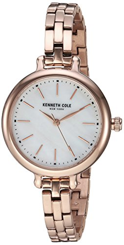 Kenneth Cole New York Women's Analog-Quartz Watch with Stainless-Steel Strap, Rose Gold, 8 (Model: KC50065013) (Kenneth Cole Watches Rose Gold)