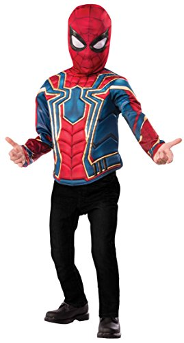 Spider Man Deluxe Mask - Imagine by Rubie's Boys Child's Deluxe Spider-Man Costume Top Set, Small