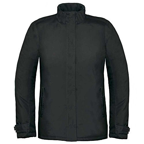 B&C Ladies Real Warm & Comfortable Waterproof & Breathable Parka Coat Black