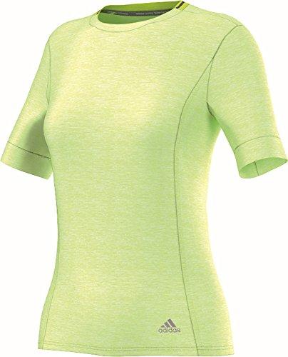 adidas Damen Shirt Supernova Short Sleeve lindgrün