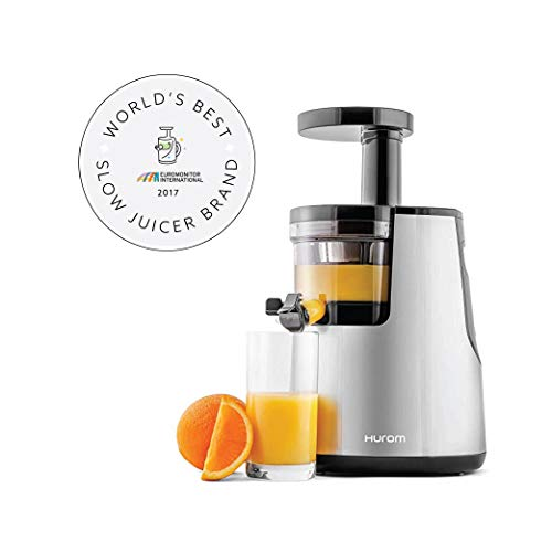 Hurom Elite Slow Juicer Model HH-SBB11 Noble Silver with Cookbook