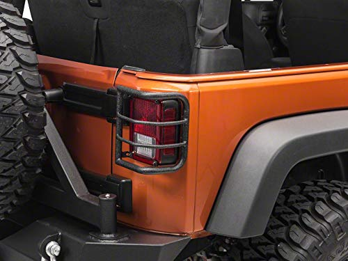 RedRock 4×4 Wrap Around Tail Light Guard – Textured Black – Jeep Wrangler JK 2007-2018