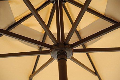 Abba Patio 11 Feet Outdoor Market Umbrella With Push