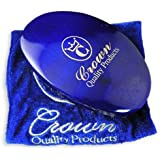 Crown Quality Products 360 Gold Mixed Boar Bristle Caesar Wave Brush Medium