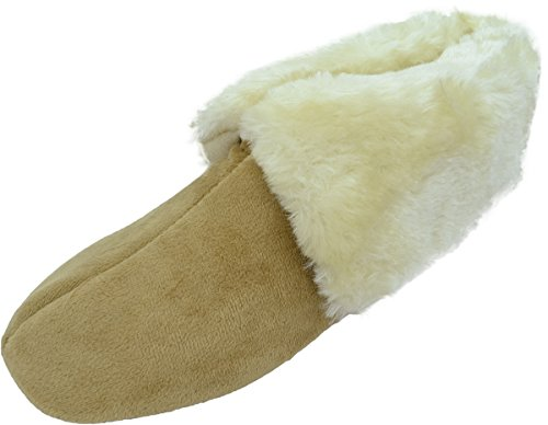 Charter Club women's Memory Foam booties Slippers Tan Small 5-6 from Charter Club