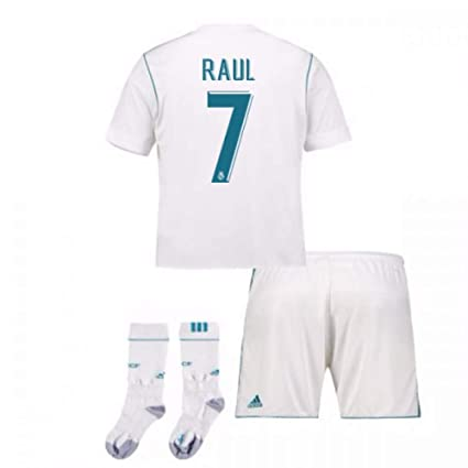 c6343c75e6b Image Unavailable. Image not available for. Color  UKSoccershop 2017-17  Real Madrid Home Full Kit (Raul 7)