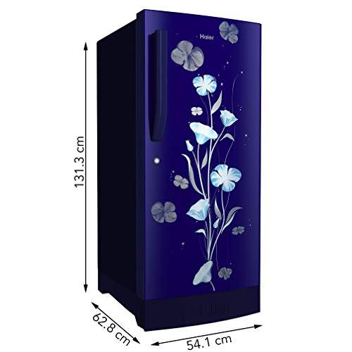 41thiZjnGhL Haier 195 L 3 Star Direct-Cool Single Door Refrigerator (HRD-1953CPMF-E, Marine Freesia)