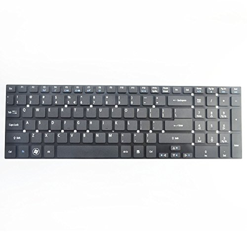 Eathtek Replacement Keyboard without Frame for Acer Aspire V3-551 V3-551G V3-571 V3-571G V3-731 V3-771 V3-771G V3-772 V3-772G Black US Layout