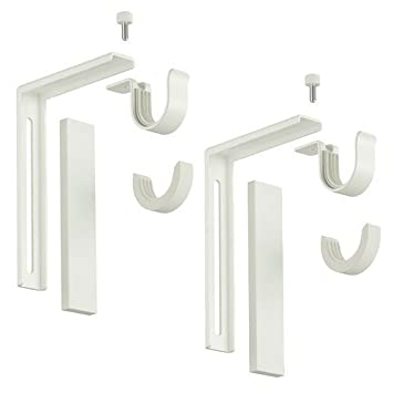 Curtain Rods curtain rods amazon : Amazon.com: Set of 2 Ikea Betydlig Wall or Ceiling Curtain Rod ...