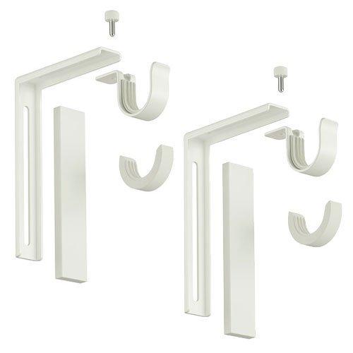 Awesome Amazon.com: Ikea Curtain Rod Holder Bracket Wall/Ceiling Set Of 2 Steel  White: Home Improvement