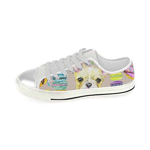 D Canvas Classic Puppy Story Fashion Shoes French Sneaker Watercolor Bulldog Custom Womens ax1waBFq