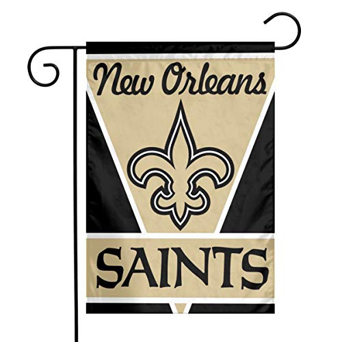 Sorcerer Custom Colorful Garden Flag Football Team New Orleans Saints Outdoor House Yard Flag Vertical Double Sided 12 x 18 Inches Indoor Banner Wedding Party Decor