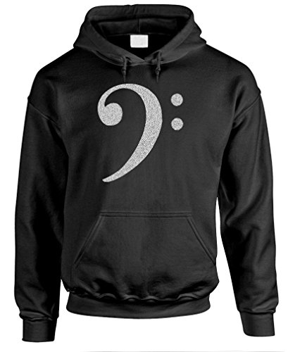 BASS CLEF - treble music hip hop rap Pullover Hoodie, L, Black for $<!--$27.99-->