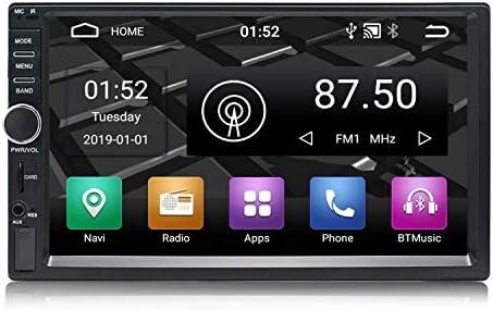 Panlelo S1 Android 9.0 2 DIN Universal 7 Pulgadas Autoradio Pantalla Táctil Navegación GPS Am FM RDS 1080P HD Quad Core 16G Reproductor de Audio del Coche WiFi Bluetooth Control del Volante: