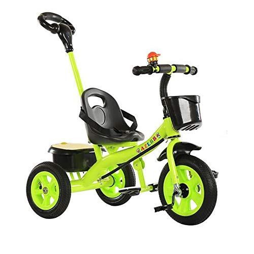 SSLC Trike for 3 Year Old with Handle Kids Tricycle Children Pedal Smart Design 3 Wheeler,Toddlers Children Ride on Pedal Trike Bike Metal Frame 18 Months to 5 Years, Green