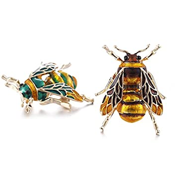 TOOGOO Cute Bee Fly Insect Brooch Clothes Accessories Enamel Brooches Birthday Gifts Jewelry aGFQWP