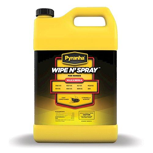 Pyranha 001GWIPEG 068022 Wipe N'Spray Fly Protection Spray for Horses, 1 gallon