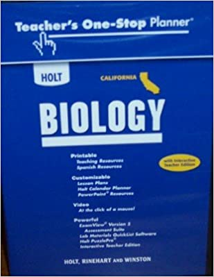 Holt Biology California Teacher S One Stop