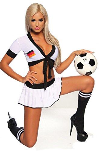 Footballeur Aimerfeel Déguisement 36 Allemagne Blanc Noir Rouge Uniforme Sexy And Taille xxTqPwI