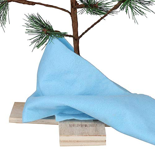 Product Works 24-Inch Charlie Brown Christmas Tree with Linus's Blanket Holiday Décor, Classic Ornament, Green