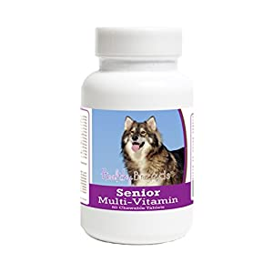 Healthy Breeds Senior Multivitamin Chewable Tablets - Veterinarian Formulated Daily Dietary Supplement - Over 200 Breeds - Tasty Liver Flavor - 60 Chews 5